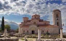 Kyrka av helgonet Panteleimon, Ohrid, Makedonien Arkivbild