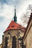 Kyrka av helgonet Salvator circa 1234 av kloster av helgonet Agnes Royaltyfri Fotografi