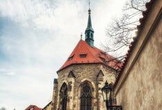 Kyrka av helgonet Salvator circa 1234 av kloster av helgonet Agnes Arkivfoton