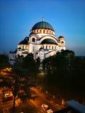 Kyrka av helgonet Sava royaltyfria bilder