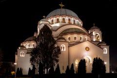 Kyrka av helgonet Sava Royaltyfria Foton