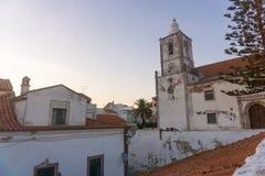 Kyrka av helgonet Sebastian i Lagos, Portugal royaltyfria foton