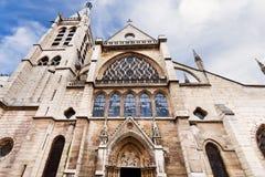 Kyrka av helgonet-Severin i Paris Arkivfoton