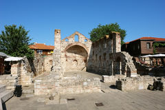 Kyrka av helgonet Sophia, forntida stad av Nessebar Royaltyfri Fotografi