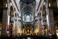 Kyrka av helgonet-Sulpice, Paris royaltyfria foton