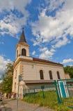 Kyrka av helgonet Wenceslas i det Nusle området av Prague Fotografering för Bildbyråer