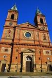 Kyrka av helgonet Wenceslaus (SmÃchov), historiska byggnader, Prague, Tjeckien Royaltyfri Bild