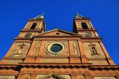 Kyrka av helgonet Wenceslaus (SmÃchov), historiska byggnader, Prague, Tjeckien Fotografering för Bildbyråer