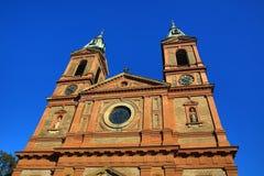 Kyrka av helgonet Wenceslaus (SmÃchov), historiska byggnader, Prague, Tjeckien Arkivbilder