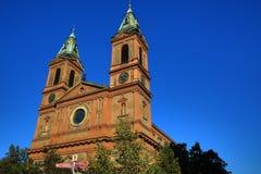 Kyrka av helgonet Wenceslaus (SmÃchov), historiska byggnader, Prague, Tjeckien Royaltyfri Foto