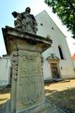 Kyrka av helgonet Witt, Vaclav och Voitech på Horsovsky Tyn, Tjeckien royaltyfri bild