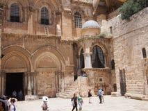Kyrka av heliga Sephulcre i Jerusalem Royaltyfria Bilder