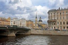 Kyrka av heliga Simeon och Anna, St Petersburg Royaltyfri Fotografi