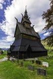 Kyrka av Hopperstad royaltyfri foto