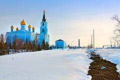 Kyrka av intercessionen Kamensk-Uralsky Ryssland Arkivfoton