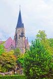 Kyrka av Interlaken i Bern Canton i Schweiz Arkivfoton