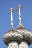 Kyrka av interventionen av oskulden, detaljer av kupolerna Fotografering för Bildbyråer