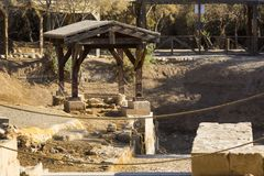 Kyrka av John The Baptist i territoriet av den moderna Jordanien arkivfoton