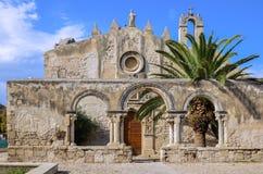 Kyrka av katakomber av St John, Siracuse, Italien Royaltyfria Foton