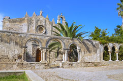 Kyrka av katakomber av St John, Siracuse, Sicilien, Italien Arkivbild