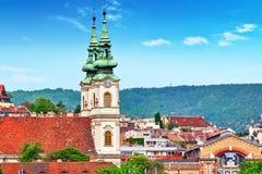Kyrka av katolska kyrkan för St Anne i Budapest, på de högra lodisarna royaltyfri bild