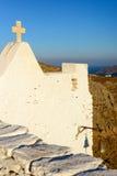 Kyrka av Keraleousa på Oria Royaltyfri Fotografi