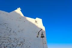 Kyrka av Keraleousa på Oria Fotografering för Bildbyråer