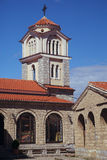Kyrka av kloster av St Naum i Makedonien på sjön Ohrid Royaltyfri Fotografi