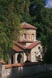 Kyrka av kloster av St Naum i Makedonien på sjön Ohrid Royaltyfri Bild