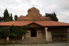 Kyrka av kloster av St Naum i Makedonien på sjön Ohrid på den gamla staden Royaltyfria Foton