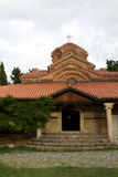 Kyrka av kloster i Makedonien på sjön Ohrid Royaltyfria Bilder