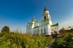 Kyrka av Kristi födelsen av den välsignade oskulden i Ryssland Arkivfoto