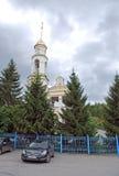 Kyrka av Kristi födelsen i bosättningen av Volzhsky Samararegion Ryssland Royaltyfri Bild