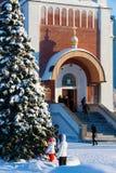 Kyrka av Kristi födelsen i den Nizhnevartovsk staden under vinter Royaltyfria Bilder
