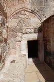 Kyrka av Kristi födelseingången, Betlehem Fotografering för Bildbyråer