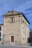 Kyrka av Madonna del Soccorso - Corfinio, Arkivbild