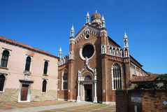 Kyrka av Madonna Dell ` Orto i Venedig Royaltyfri Fotografi