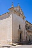 Kyrka av Madonna delle Grazie. Maglie. Puglia. Italien. royaltyfria bilder
