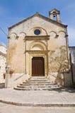 Kyrka av Madonna delle Grazie. Montescaglioso. Basilicata. arkivbild