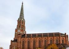 Kyrka av Mariahilf i Tyskland Arkivfoto