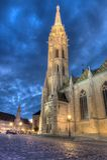 Kyrka av Mathias Rex i Budapest Arkivbilder