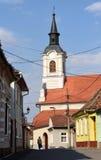 Kyrka av medel, transylvania, Arkivbilder
