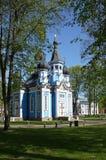 Kyrka av modern av gudsymbolen Druskininkai Litauen arkivfoto