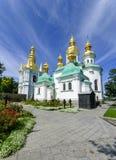 Kyrka av nativityen av den välsignade oskulden av Kieven-Pechers Arkivfoton