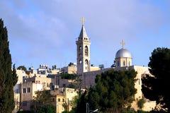 Kyrka av nativityen i Bethlehem royaltyfri foto