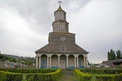 Kyrka av Nercon, Chiloe ö, Chile arkivfoton