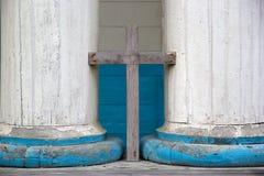 Kyrka av Nercon, Chiloe ö, Chile royaltyfri fotografi