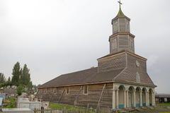 Kyrka av Nercon, Chiloe ö, Chile royaltyfri bild