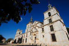 Kyrka av Nuevo Baztan, Madrid, Spanien Royaltyfria Foton