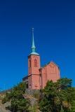 Kyrka av Nynashamn, Stockholm, Sverige royaltyfria foton